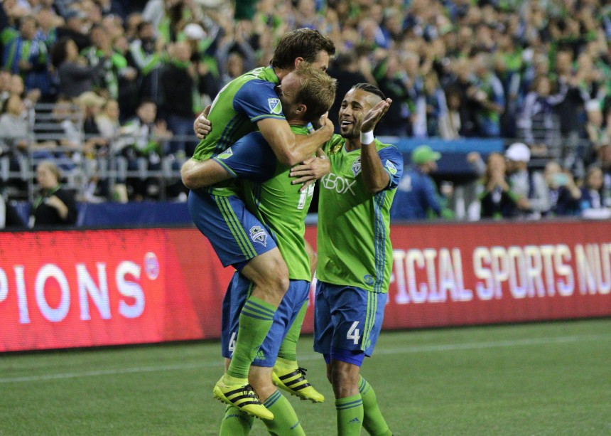 Seattle Sounders Celebrate Chad Marshall