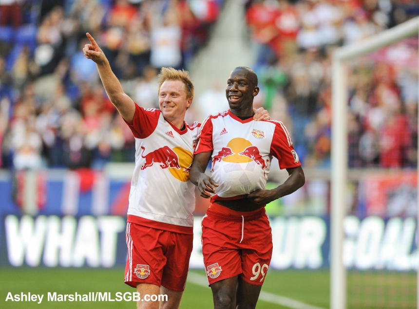 MLS: New York Red Bulls vs. Columbus Crew - Bradley Wright-Phillips and Dax McCarty