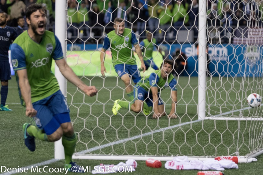 Seattle Sounders goal against Sporting Kansas City