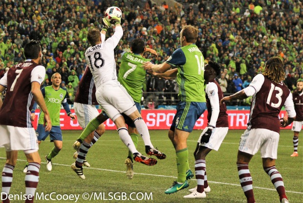 Seattle Sounders vs Colorado Rapids - MacMath Save