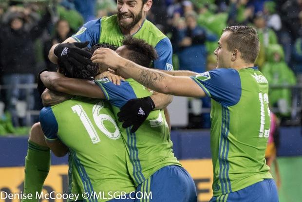 Seattle Sounders vs FC Dallas - Sounders Celebrate